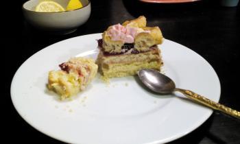 Торт песочно-заварной